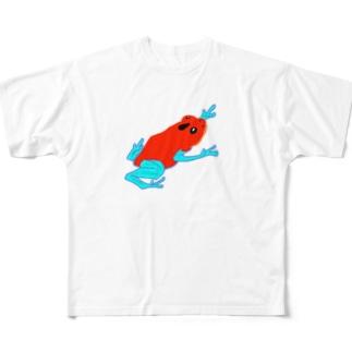 真っ赤なカエル Full graphic T-shirts