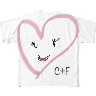 ハートさん Full graphic T-shirts