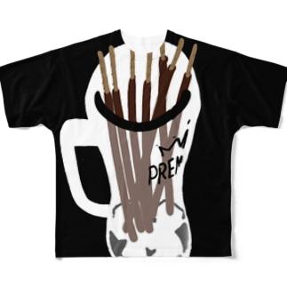 ポッキーオンザロック Full graphic T-shirts