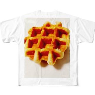 ワッフル Full graphic T-shirts