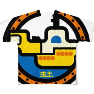 パ紋No.2916 法土 Full graphic T-shirts