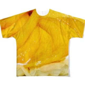 マンゴータルト(ヨーグルトクリーム) Full graphic T-shirts