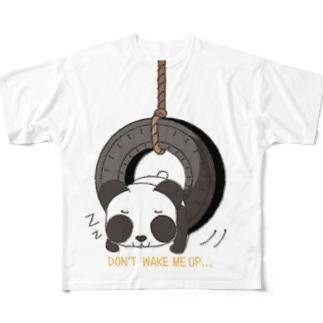 CT148 おこさないでねB*ズレぱんだちゃんのDON'T WAKE ME UP... Full graphic T-shirts
