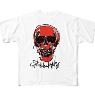 スカルデッドキルズ Full graphic T-shirts