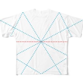 よシまるシンの折り畳みライン4 Full graphic T-shirts