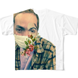 ホリンピックアパレルのアートはちごー Full graphic T-shirts