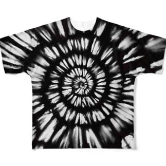 kowareul タイダイT 黒 Full graphic T-shirts