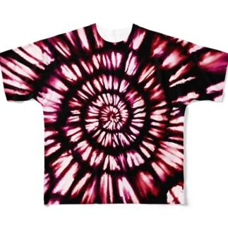 kowareul タイダイT 赤 Full graphic T-shirts