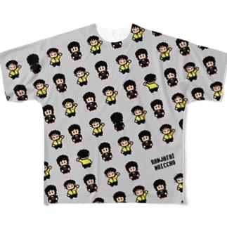 ドット絵総柄T 両面カラーver. Full graphic T-shirts