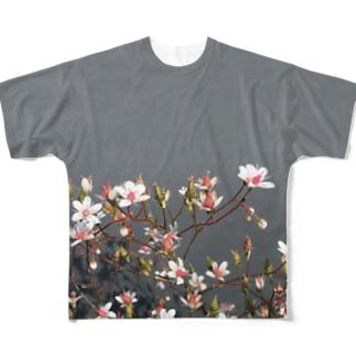 庭先の花 Full graphic T-shirts