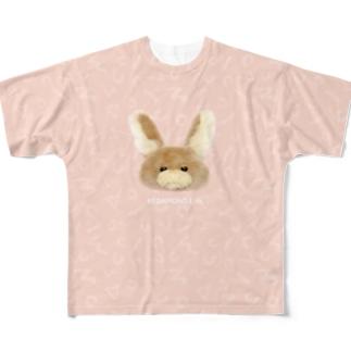 むぎちゃん Full graphic T-shirts