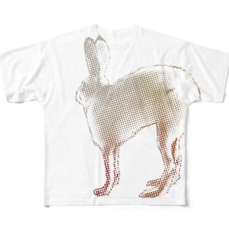 ホッキョクウサギ Full graphic T-shirts