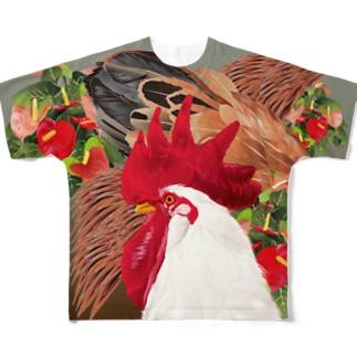 ニワトリ Full graphic T-shirts