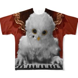 ほくろう フルグラフィックTシャツ PIANO Full graphic T-shirts