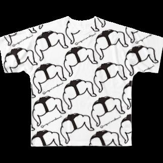 megumiillustrationのsumo Full graphic T-shirts