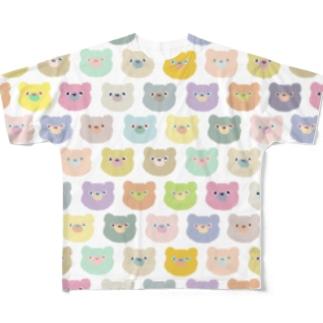 くまだらけ Full graphic T-shirts