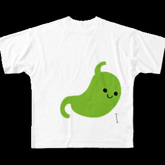 poisonlunchboxの胃 Full graphic T-shirts
