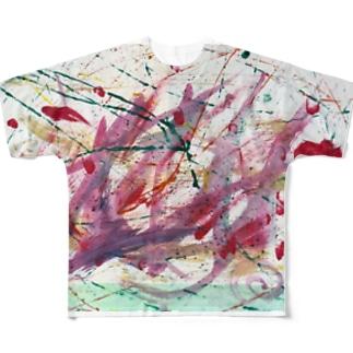 わと画伯の抽象画 Full graphic T-shirts