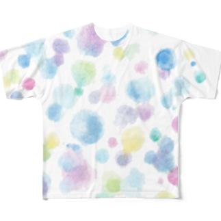 いろあそび1 Full graphic T-shirts