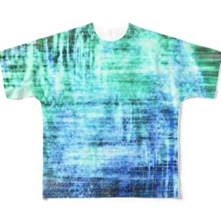 BlueGreen Full Graphic T-Shirt