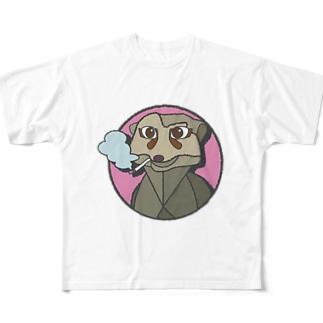 ミーアキャットのミーアさん Full graphic T-shirts