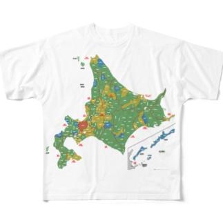北海道179市町村地図 Full Graphic T-Shirt