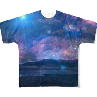 銀河湿原 Full graphic T-shirts