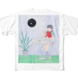UFOにすれば良かった Full graphic T-shirts