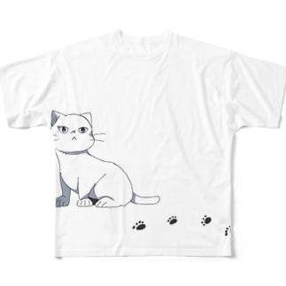 しろねこ Full graphic T-shirts