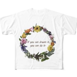 香りの花のリース All-Over Print T-Shirt