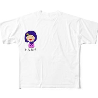 からあげ桜 Full graphic T-shirts