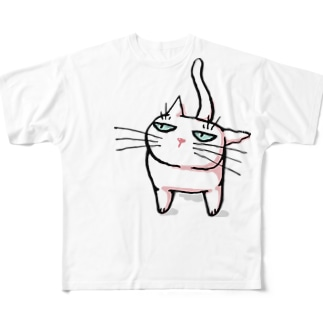 みあげるしろねこ♪ Full graphic T-shirts