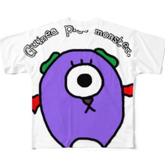 モルモットのモンスター Full graphic T-shirts