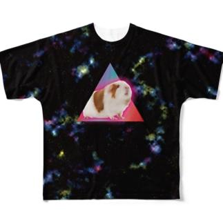 宇宙モルモット XLサイズ推奨 Full graphic T-shirts