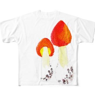 タマゴタケえええ Full graphic T-shirts