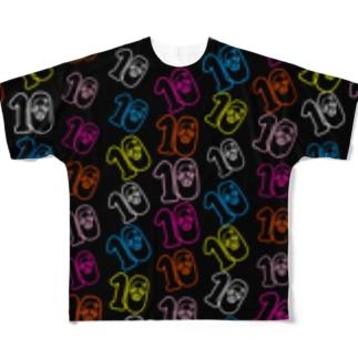 歌うバルーンパフォーマMIHARU✨〜あいことばは『笑顔の魔法』〜😍🎈の10周年記念Tシャツ🖤ブラック🖤 Full graphic T-shirts