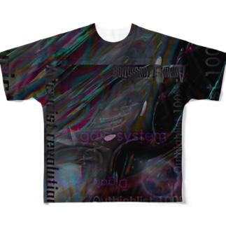 テキスト2021 暗号 ブラック Full graphic T-shirts