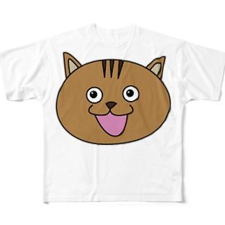 びっくり猫 Full graphic T-shirts