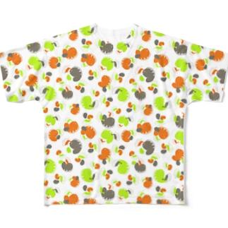 ウツボと小エビ柄(緑) All-Over Print T-Shirt