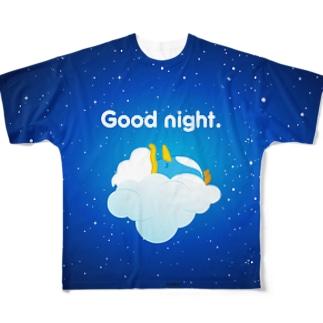 フラッフィー・バブール(Goodnight) Full graphic T-shirts