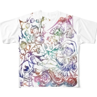 がーおが作 MIMMIXだよ全員集合(ミンクロのT-シャツ) Full graphic T-shirts