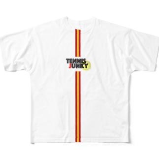 TENNIS JUNKYロゴTシャツ スペイン Full graphic T-shirts