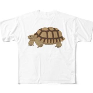 けづめりくがめさん 文字なし Full graphic T-shirts
