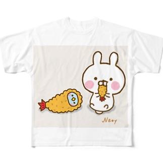 えびふらいになりたい Full graphic T-shirts