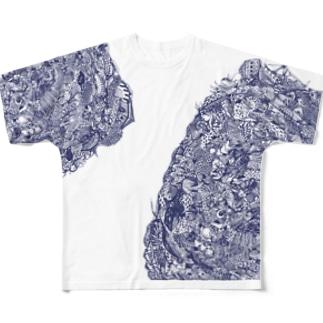 うみとみう/ゴブリンTシャツ Full graphic T-shirts