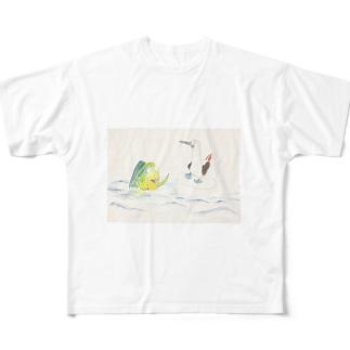 シイラとカツオドリ Full graphic T-shirts