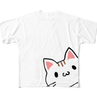 ねこちゃんといっしょ Full graphic T-shirts
