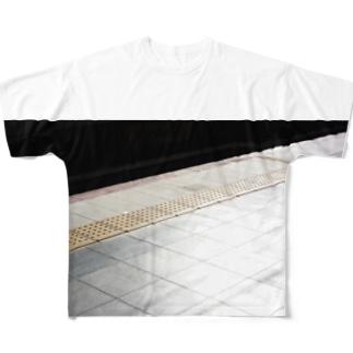 イエローライン? Full graphic T-shirts