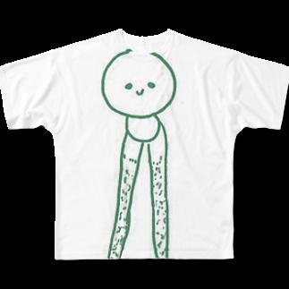 かむい工作のおふざけ&オオカミちゃんRADIO広報のまぁ坊作品展 Full graphic T-shirts