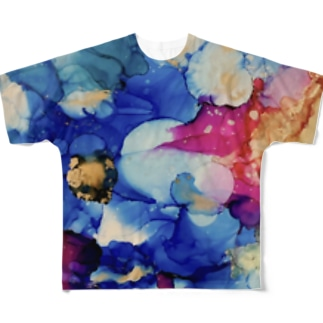 RYO NISHIWAKIのWakki Wator Color Full graphic T-shirts